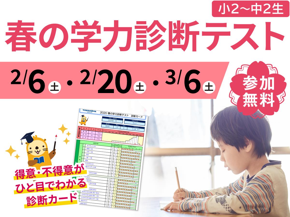 寺小屋グループ無料学力診断テスト